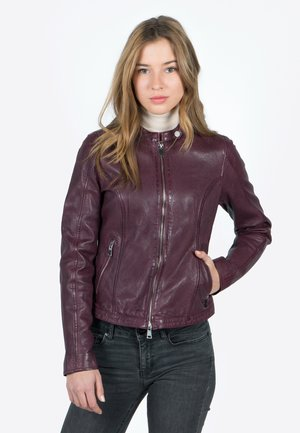 FAST TULA-FN - Leather jacket - bordeaux