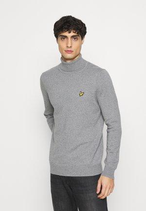 ROLL NECK JUMPER - Stickad tröja - mid grey marl