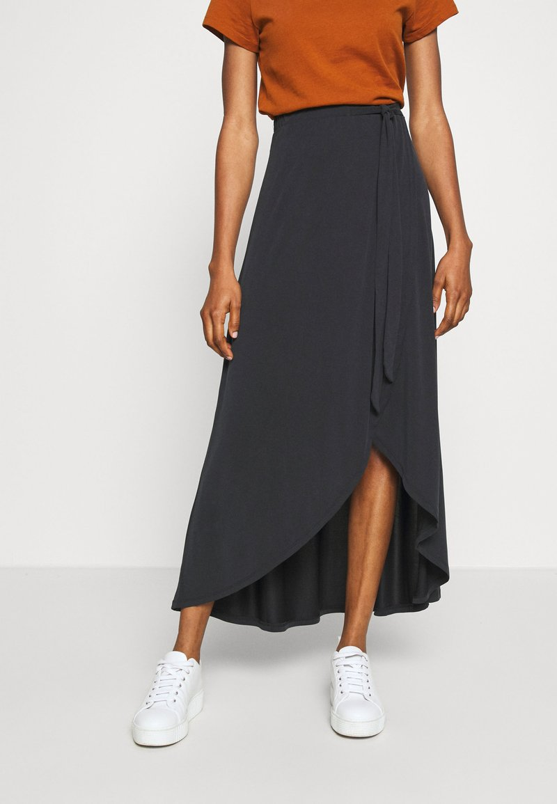 Object - OBJANNIE MIDI SKIRT - STRAIGHT - Wrap skirt - black