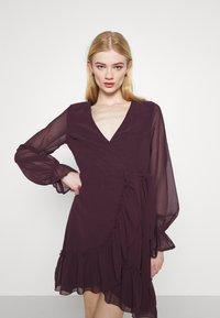Gina Tricot - JULIANNA WRAP DRESS - Cocktail dress / Party dress - winetasting - 3