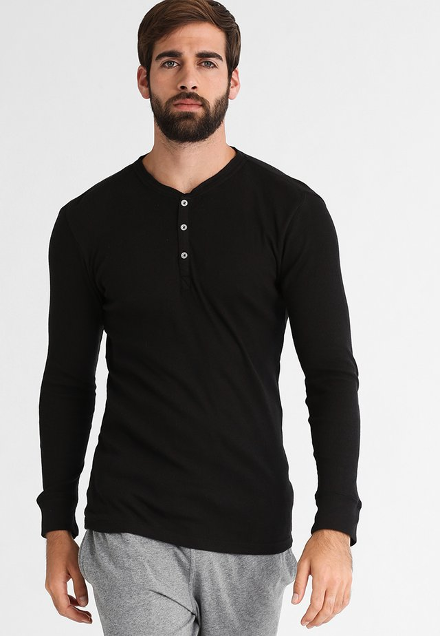 LEVIS 300LS LONG SLEEVE HENLEY - Pyjama top - black