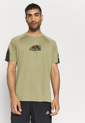 T-shirt con stampa - orbit green/black