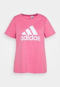 adidas Performance - Print T-shirt - rose tone/white - 0
