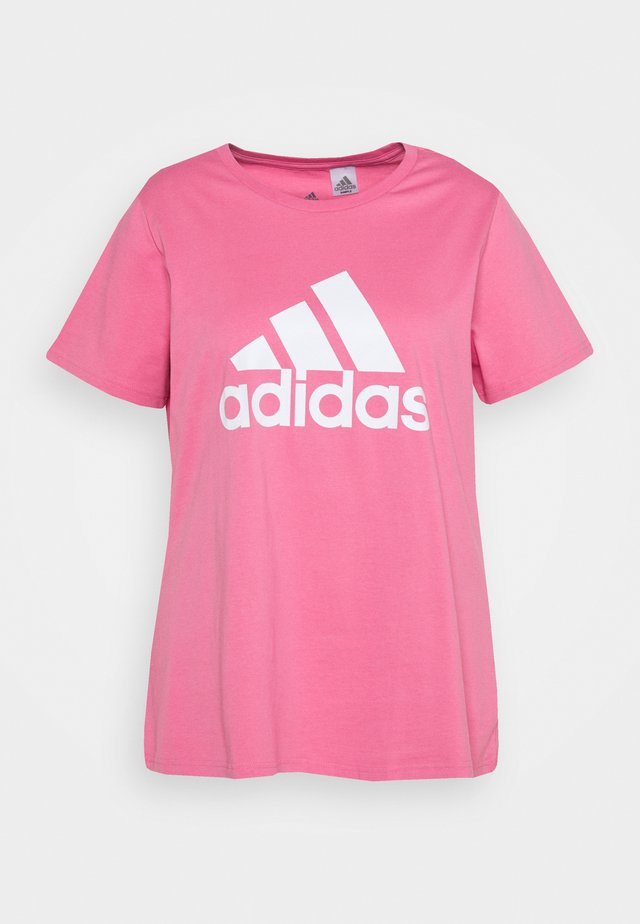 T-shirt print - rose tone/white