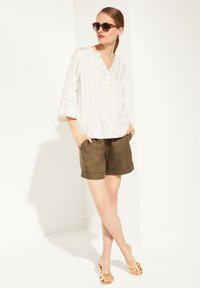 comma - Blouse - beige embroidery - 1