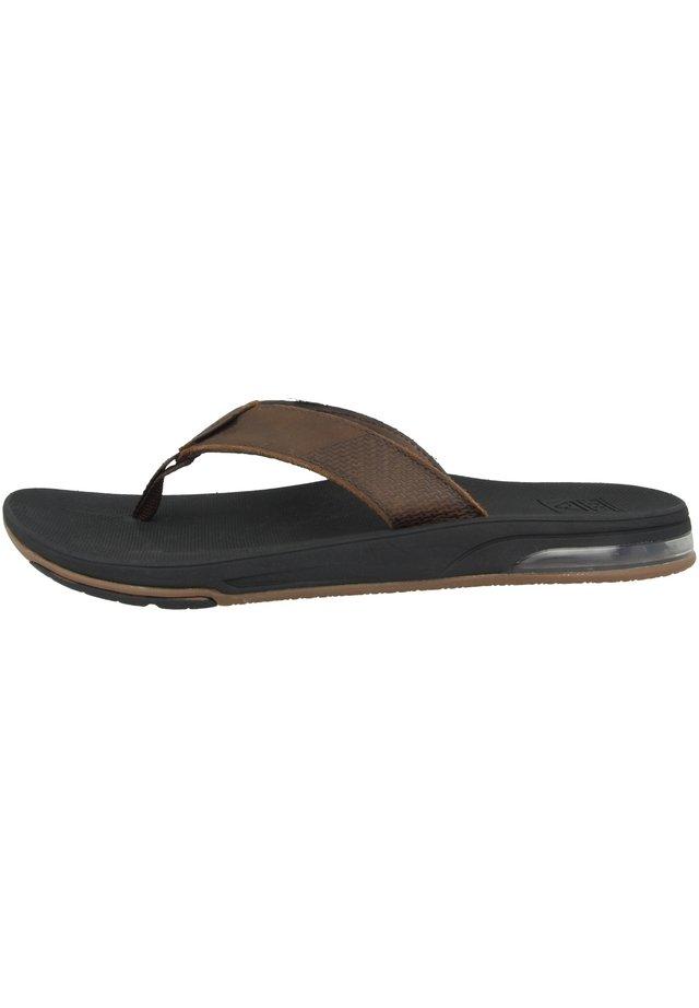 SCHUHE LEATHER FANNING LOW - T-bar sandals - dark brown (rf0a3ol2dab)