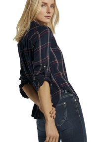 TOM TAILOR - Button-down blouse - navy grid check - 5