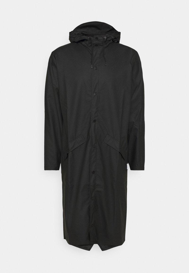Rains - LONGER JACKET UNISEX - Vodotěsná bunda - black
