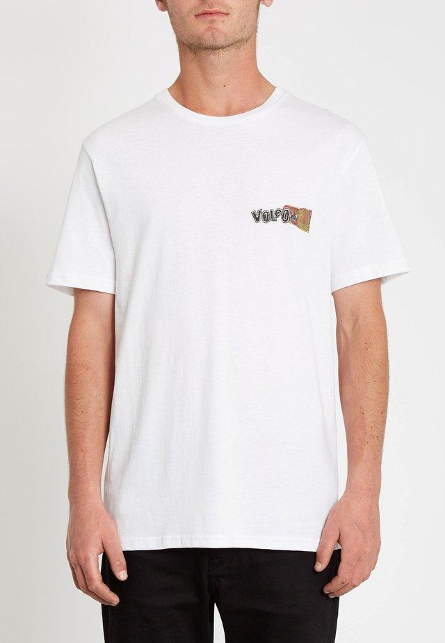 WORLDS COLLIDE - Print T-shirt - white