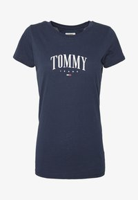 Tommy Jeans - SCRIPT  - Camiseta estampada - twilight navy - 4