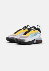 Nike Sportswear - Trainers - white/bleached aqua/black/speed yellow/chile red - 1