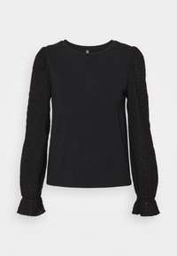 Pieces - PCLIZZIE  - Long sleeved top - black - 0