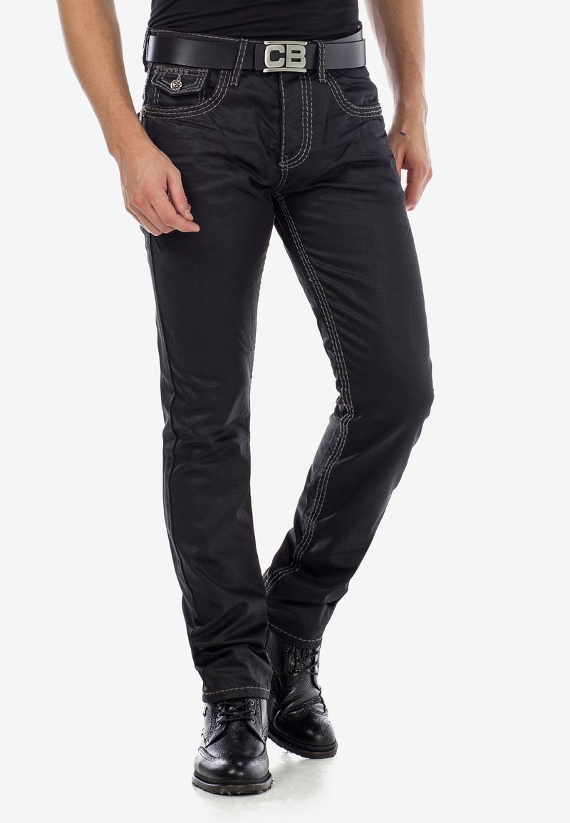 Cipo & Baxx - Straight leg jeans - black