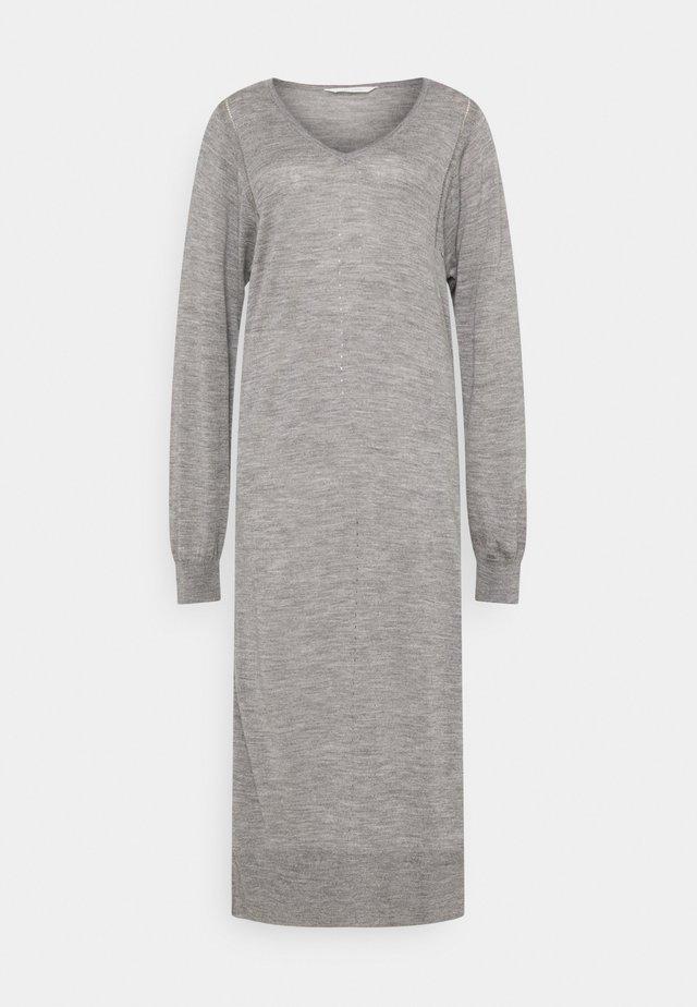 ZENIA - Abito in maglia - grey melange