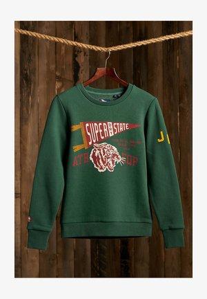 TRACK & FIELD CLASSIC CREW - Sweatshirt - enamel green