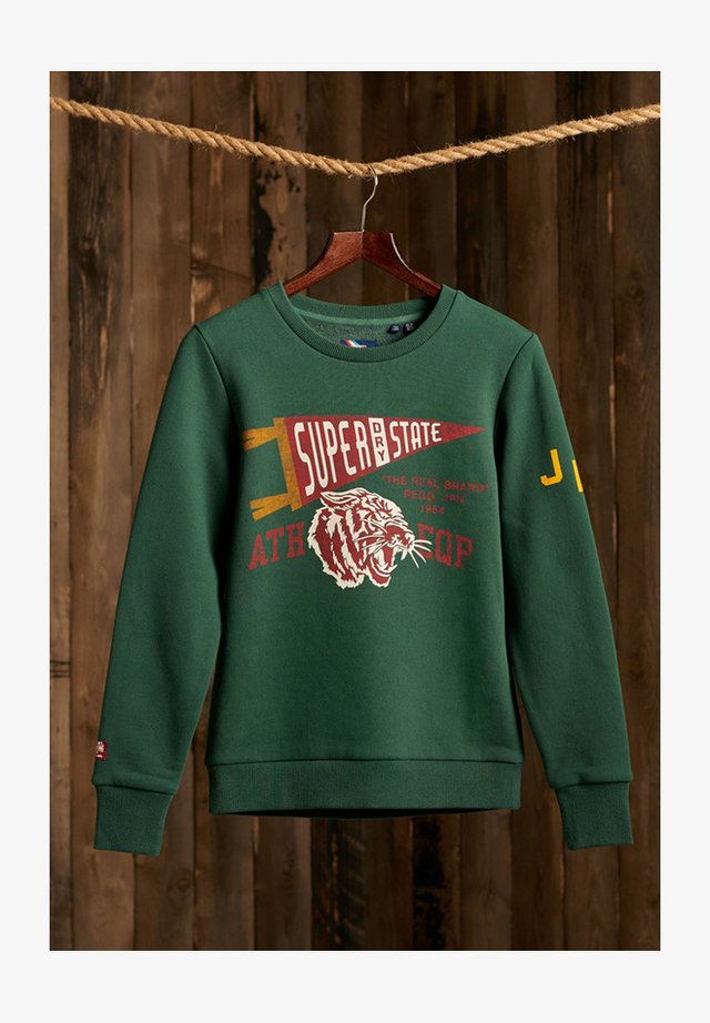 TRACK & FIELD CLASSIC CREW - Sweater - enamel green