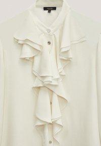 Massimo Dutti - MIT VOLANTS  - Button-down blouse - white - 3