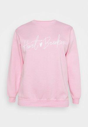 HEART BREAKER CREW - Sweatshirt - pink