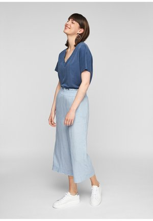 Trousers - powder blue melange