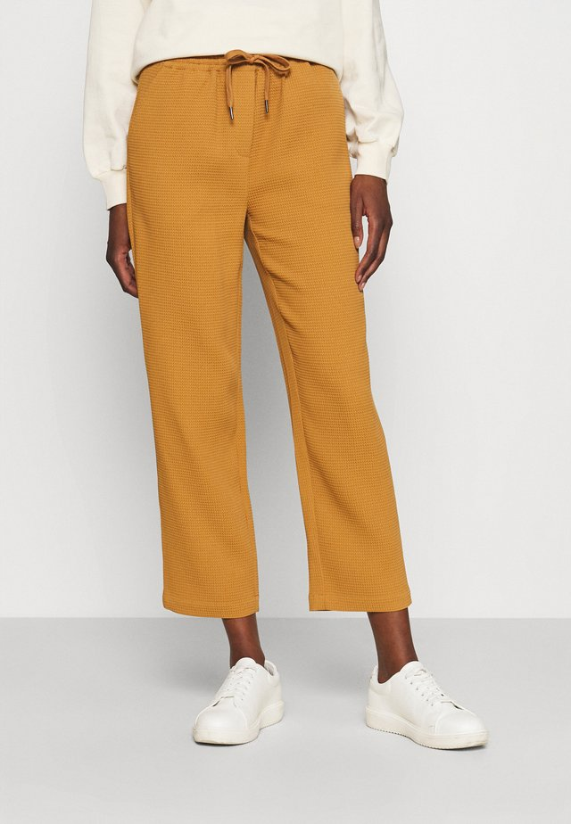 SEISEN WAFFLE PANTS - Broek - brown sugar
