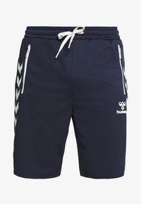 Hummel - HMLXANDER SHORTS - Sports shorts - black iris - 3