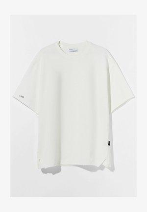 OVERSIZED SHORT SLEEVE SWEAT - T-shirt - bas - white