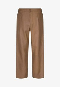 Mos Mosh - COMO  - Leather trousers - braun - 0