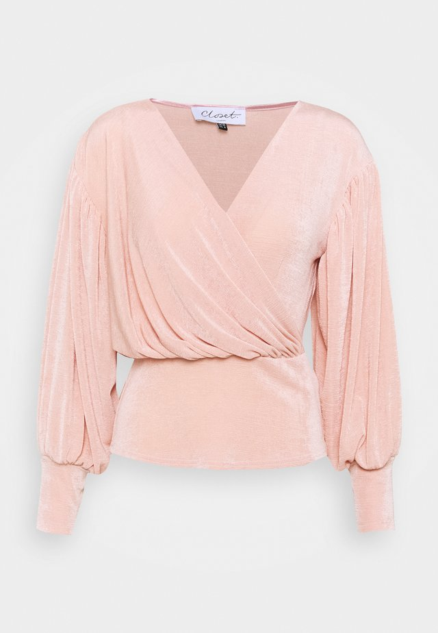 PUFF SLEEVE WRAP - Print T-shirt - blush