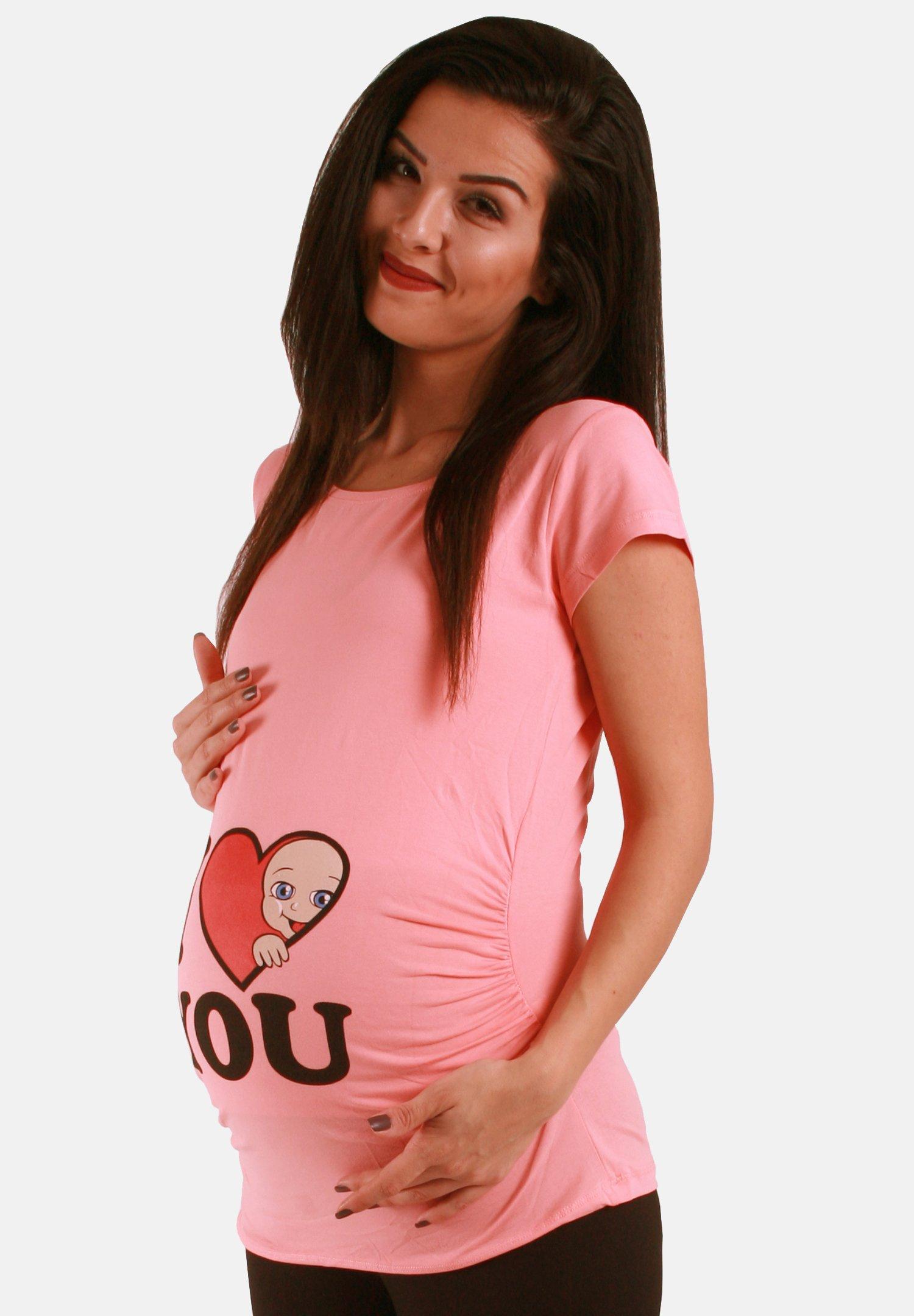 Damen MIT MOTIV I LOVE YOU - T-Shirt print