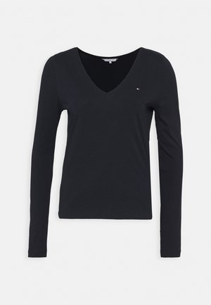 REGULAR CLASSIC V NECK  - T-shirt à manches longues - blue