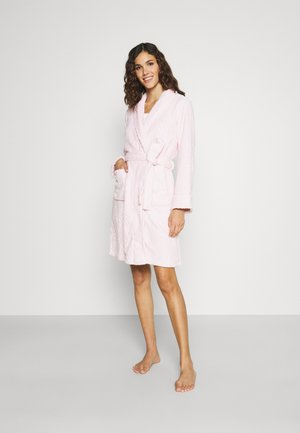CLIPPED SHAWL COLLAR ROBE - Dressing gown - pink