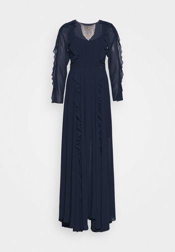 ABITO CON COLLANA GIOIELLO - Společenské šaty - blu navy