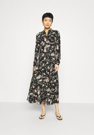 PRINTED DRESS - Shirt dress - black/multi-coloured