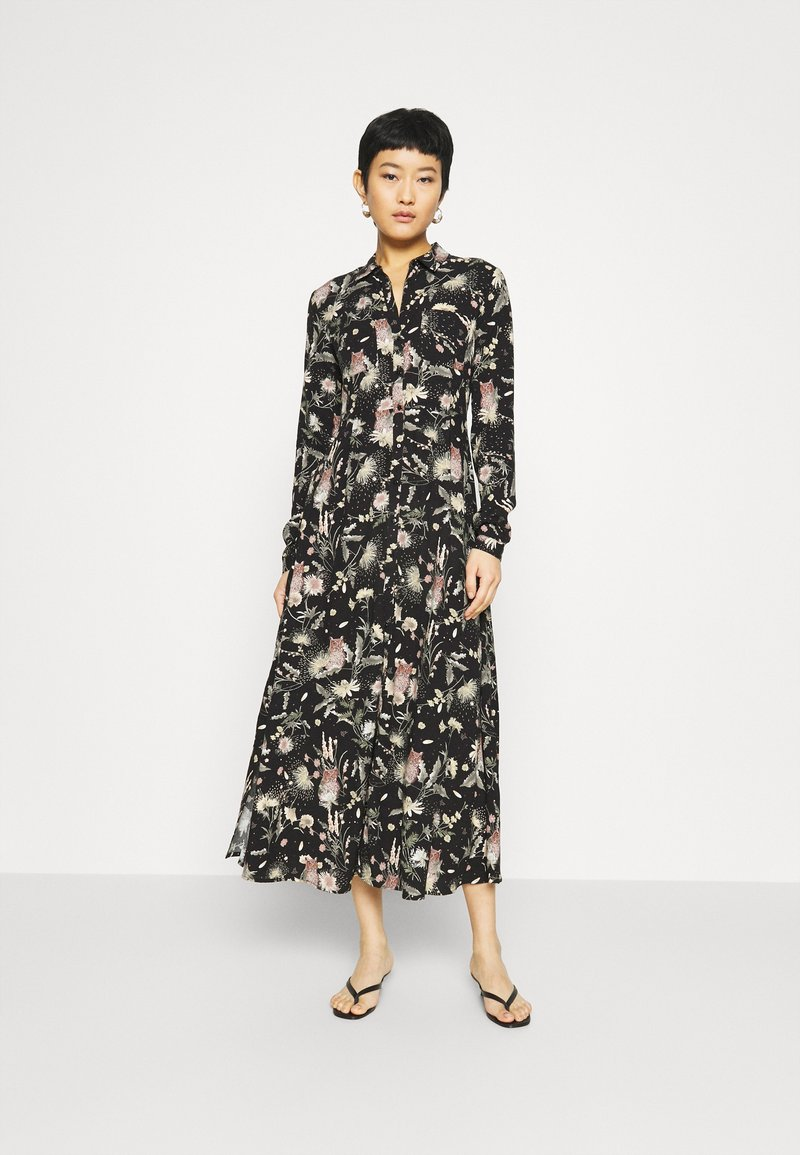 Mavi - PRINTED DRESS - Vestido camisero - black/multi-coloured