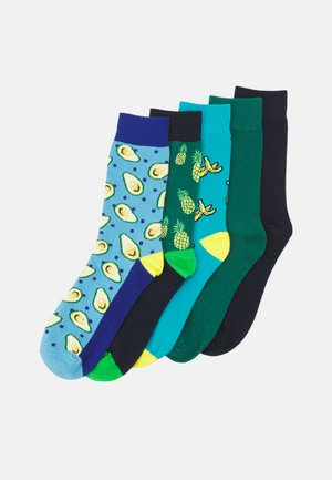 JACFRUITY SOCK 5 PACK - Calze - surf the web/navy blazer/peacock
