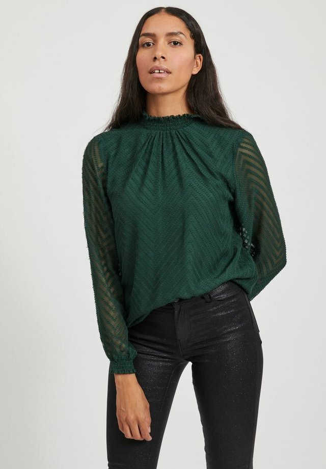 VIMICHELLE HIGH NECK - Blouse - pine grove