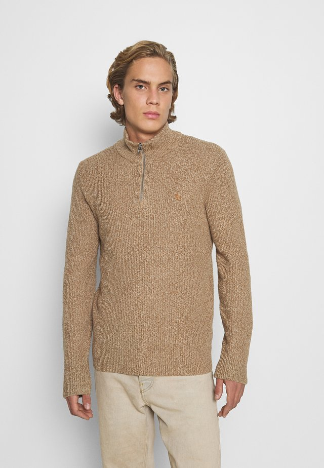 CORE ICON ZIP - Pullover - tan
