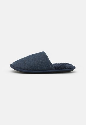 HERRINGBONE MULE - Tøfler - denim blue