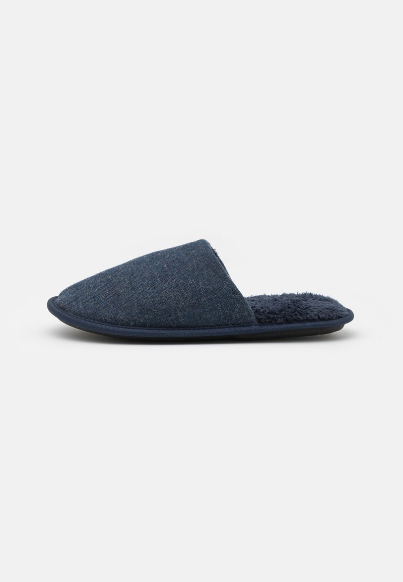 Burton Menswear London - HERRINGBONE MULE - Tofflor & inneskor - denim blue