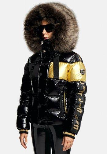 Down jacket - black/wet black/gold