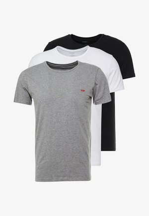 3 PACK - Pyjama top - grey/black/white