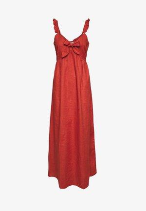 Vestido largo - rust
