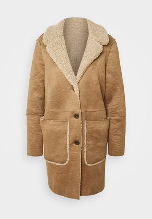 REVERSIBLE COAT - Mantel - cargo beige