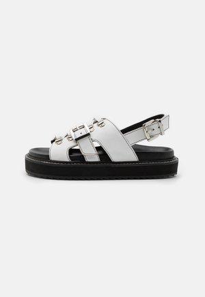 SYDNEY - Platform sandals - white