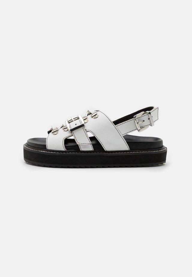 SYDNEY - Korkeakorkoiset sandaalit - white