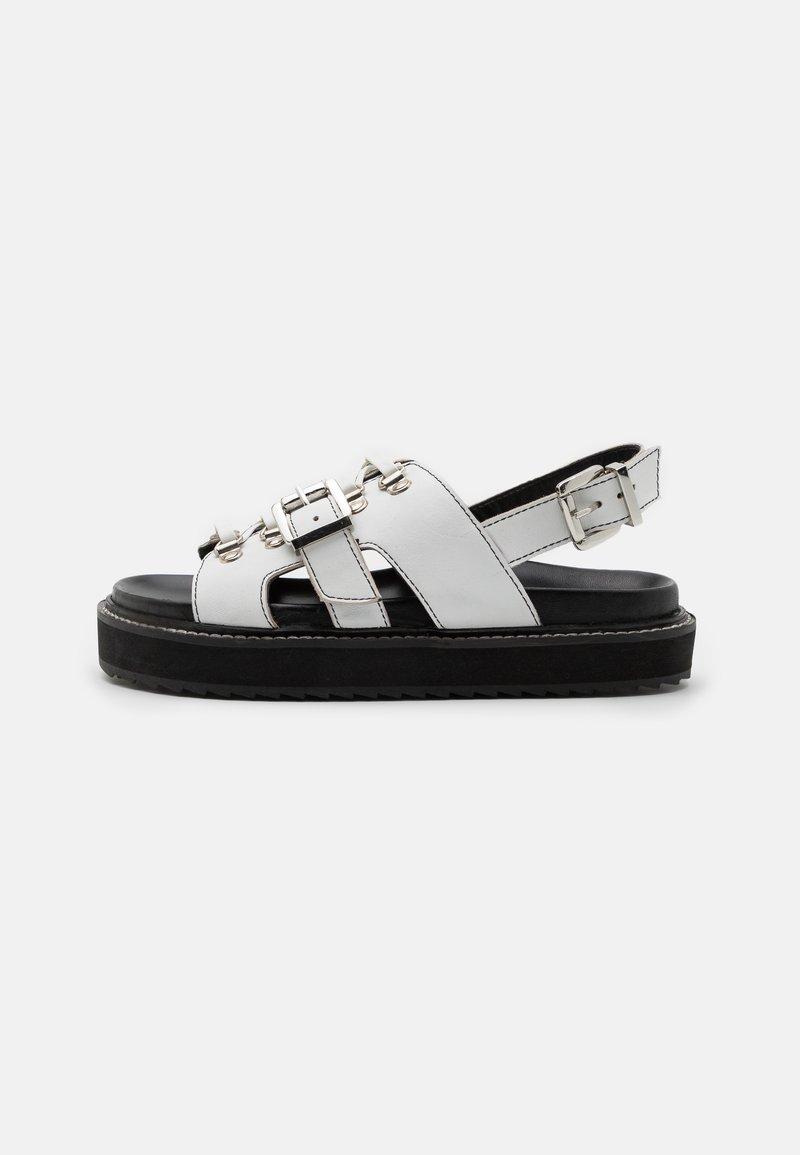ASRA - SYDNEY - Korkeakorkoiset sandaalit - white
