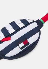 Tommy Hilfiger - CORE ROUND BUMBAG STRIPES UNISEX - Across body bag - navy/white - 3