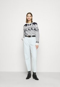 Vila - VICOMET CHRISTMAS - Jumper - snow white/navy - 1