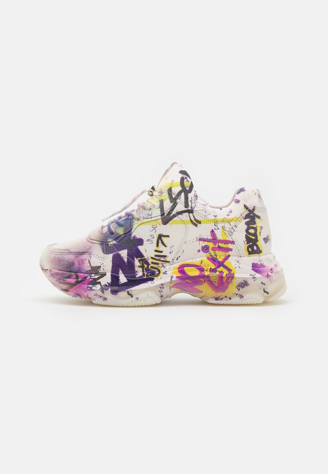 BAISLEY - Sneakers laag - off white/yellow/fuchsia