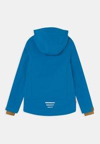 TrollKids - TROLLFJORD UNISEX - Softshellová bunda - azure blue/bronze - 1